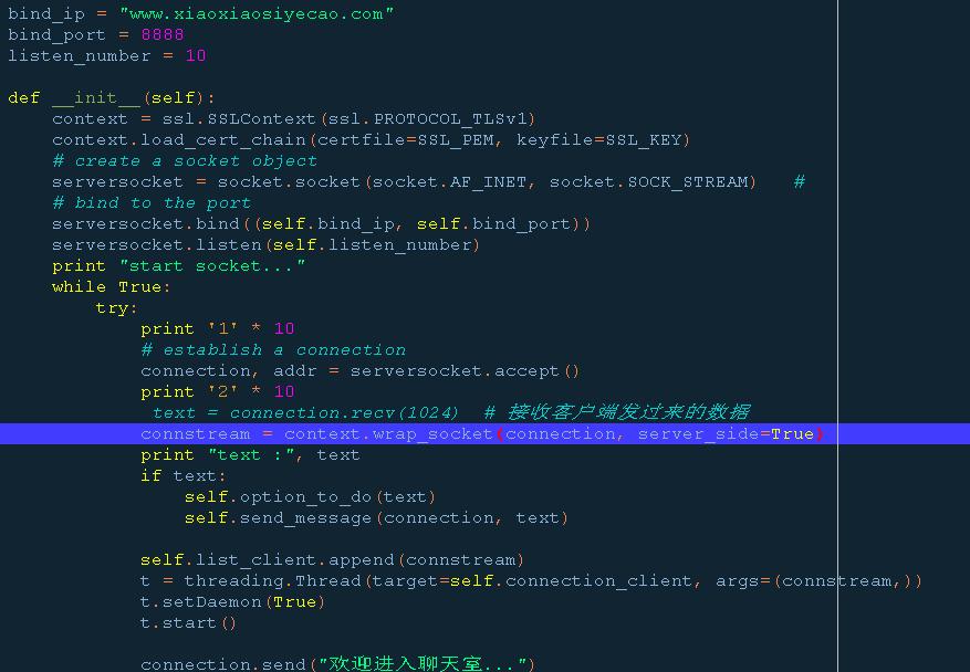python socket ssl 连接小程序websocket - OSCHINA