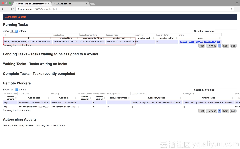 druid io 从本地批(batch)导入数据与从hdfs 批导入数据的index